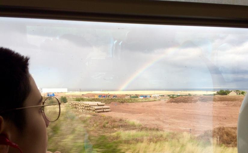 A girl and a rainbow