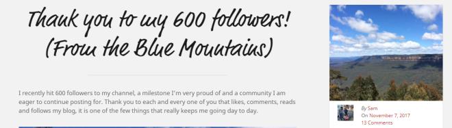 600followers!