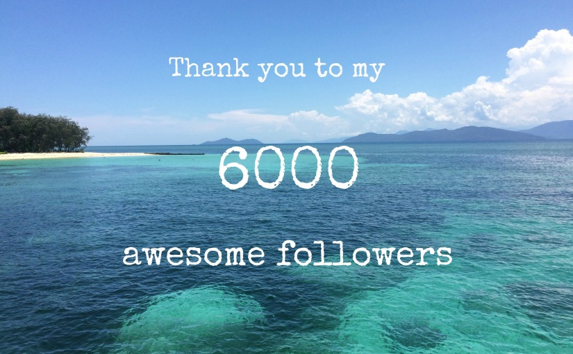 Thank you to my 6,000followers!
