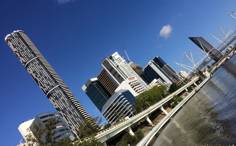Brisbane has a very cool hidden runningtrack