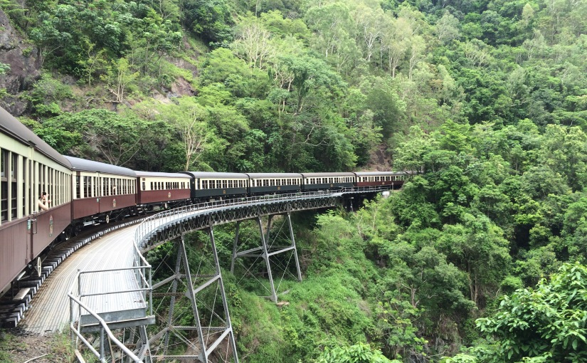 A very awesome but scary trainride
