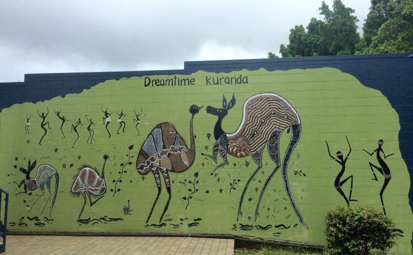 Dreamtime artwork in therainforest
