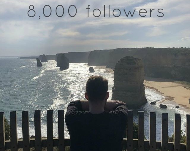 8,000 followers: Thank you to my readers