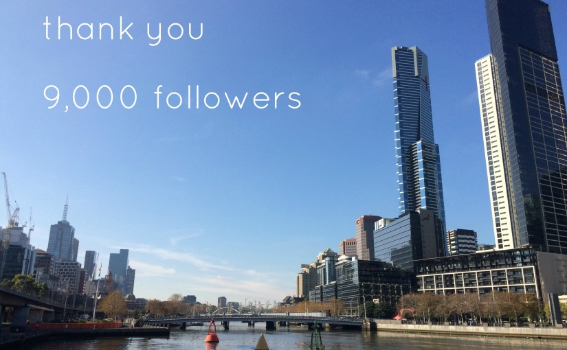 Thank you to my 9,000followers!
