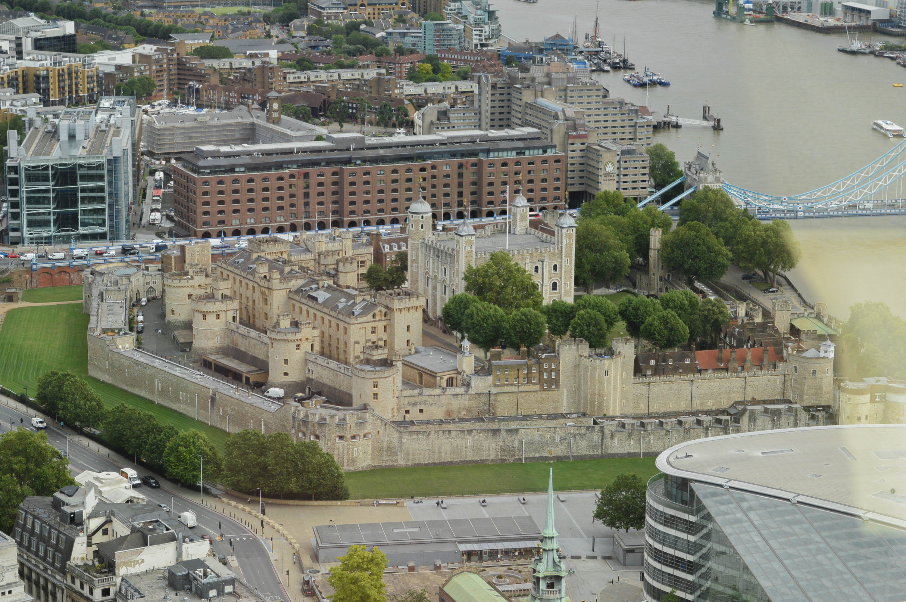 Looking down to Tower of London