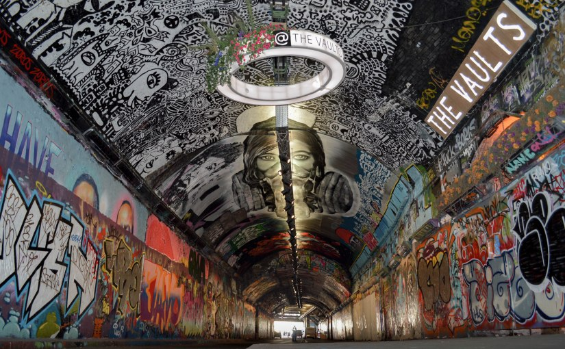 'Banksy Tunnel' hidden at Leake Street Arches,Waterloo