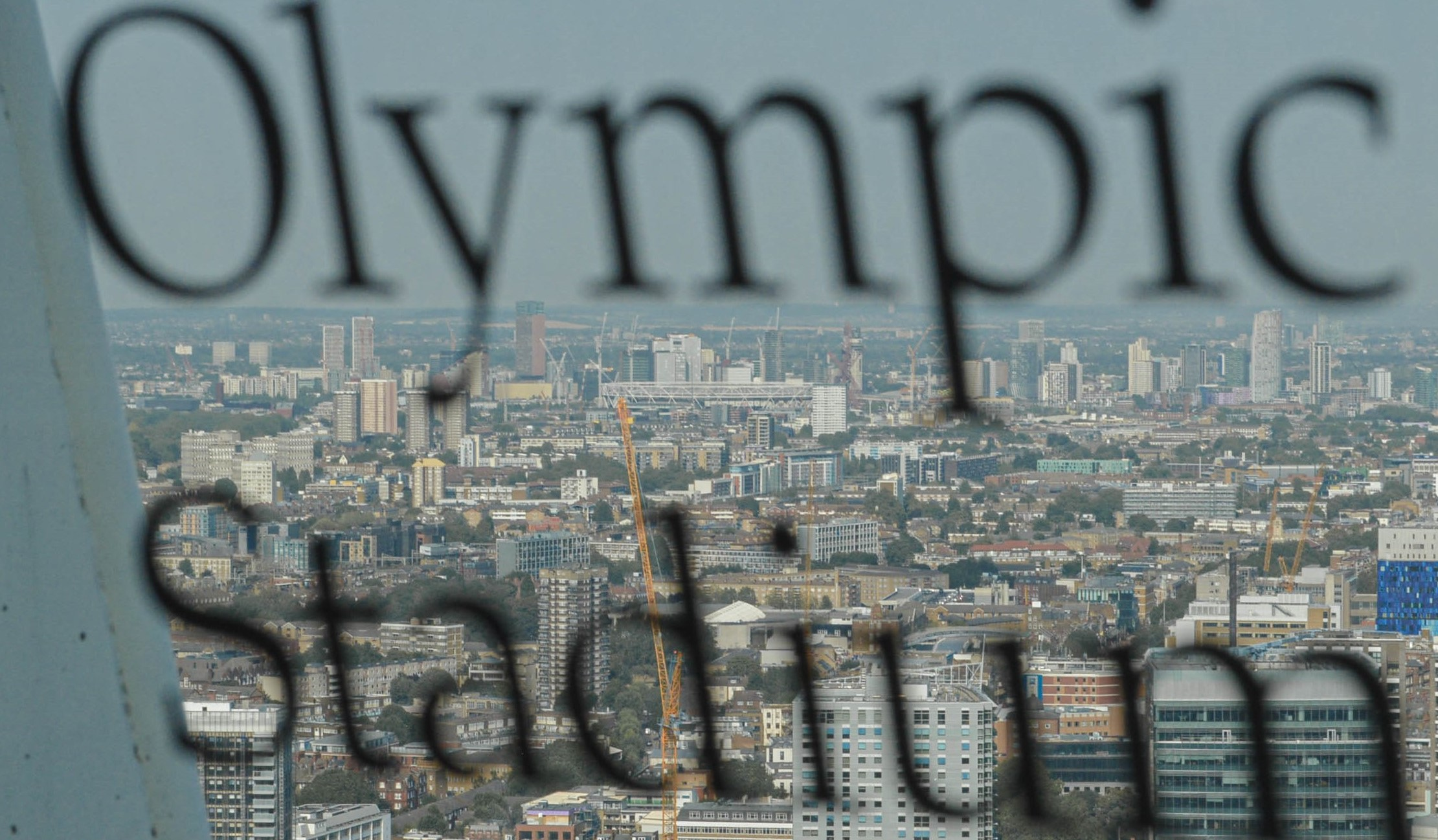 Looking out to Olympic Stadium