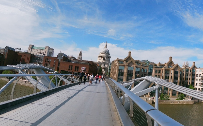 London quiz!: How many famous spots can be seen from the MillenniumBridge?