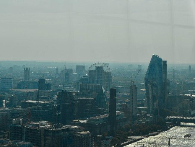 London landmarks seen from the outside deck
