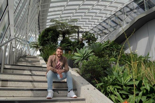 Selfie of me taken on steps in Sky Garden